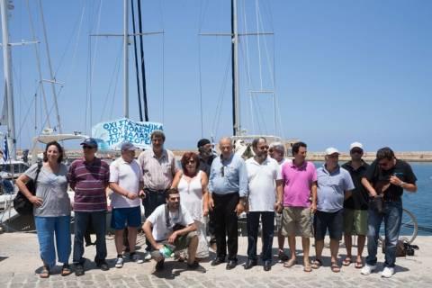 Επέστρεψαν τα σκάφη που έλαβαν μέρος στη διαμαρτυρία για τα χημικά