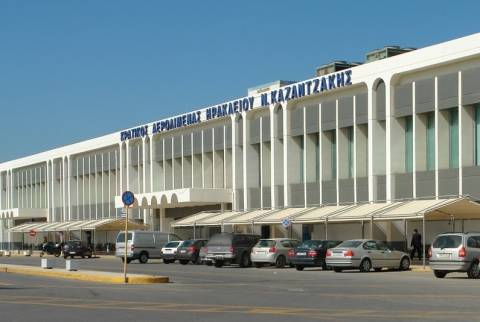 Αποκλεισμένοι επιβάτες στο αεροδρόμιο Ηρακλείου