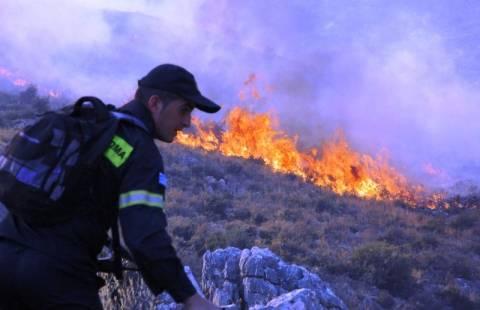 Κρήτη: Μαίνεται το πύρινο μέτωπο στον Προφήτη Ηλία (pics&vid)