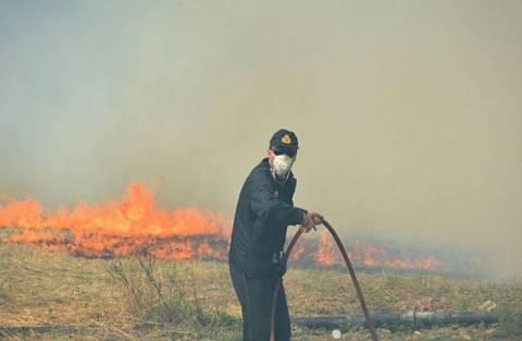 Πάτρα: Πυρκαγιά κοντά στο έλος της Αγυιάς