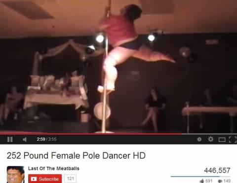 Είναι 150 κιλά αλλά είναι... χορεύτρια σε στύλο! (βίντεο)