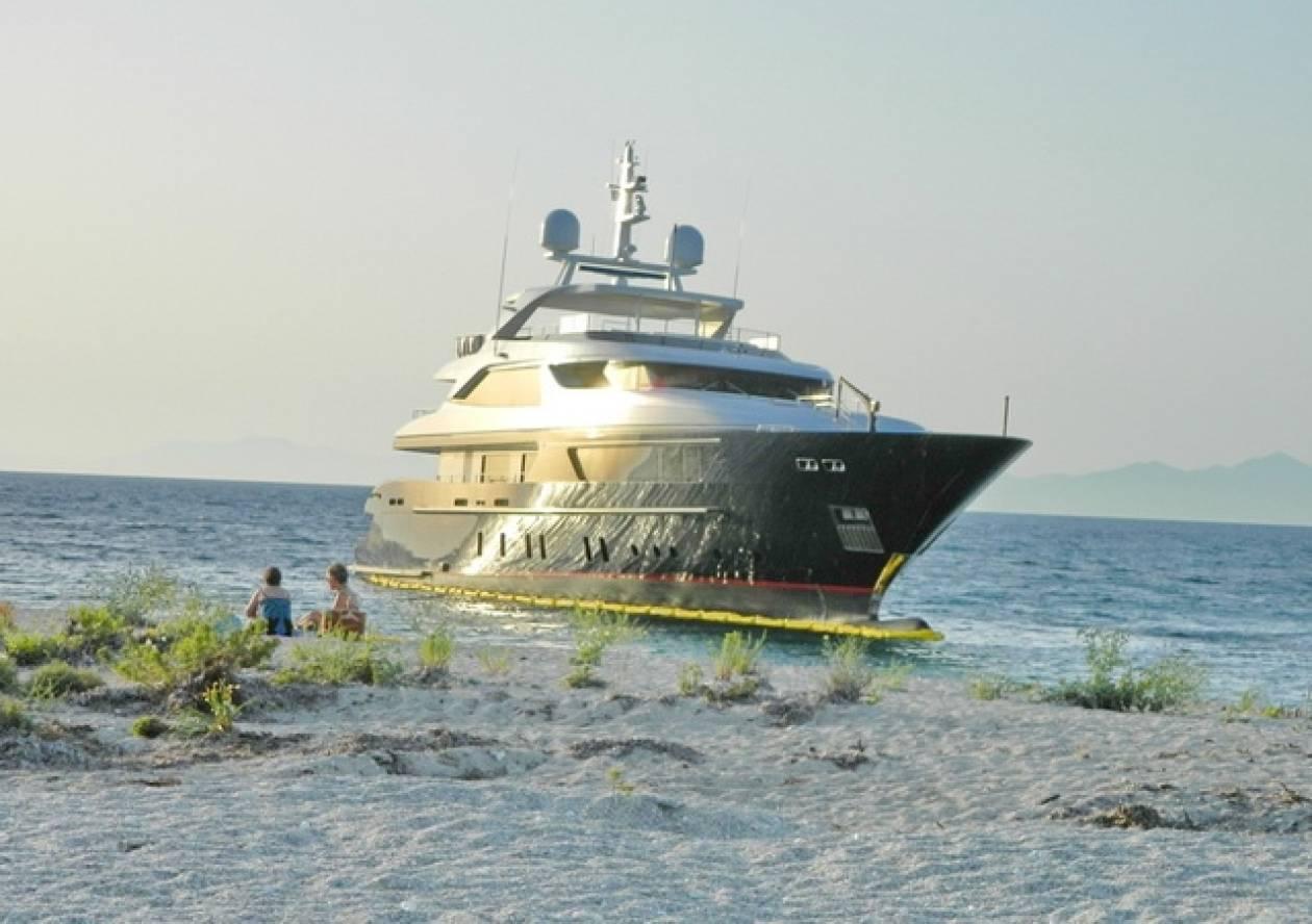 Προσάραξη θαλαμηγού σκάφους σε αβαθή στη Λευκάδα