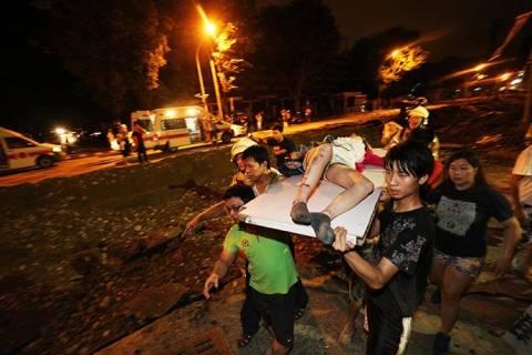 Κόλαση στην Ταϊβάν- Αλλεπάλληλες εκρήξεις με δεκάδες νεκρούς (pics+video)