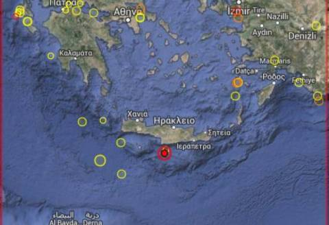 Earthequake hits off Crete coast