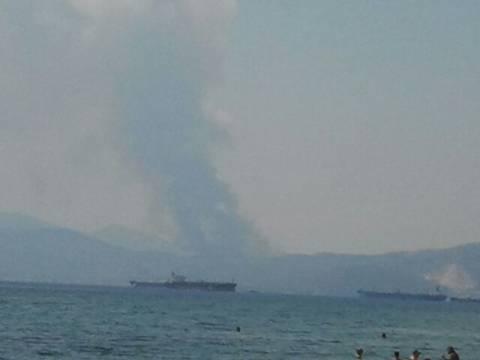 Συναγερμός στην Πυροσβεστική – Μεγάλη πυρκαγιά στα Αθίκια Κορινθίας (pics)