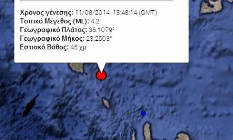 Κύθηρα: Σεισμός 4,2R