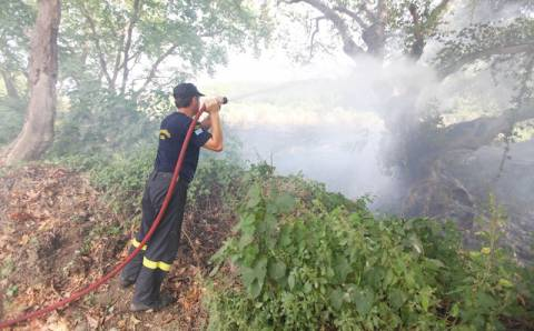 Χανιά: Σε ύφεση φωτιά στο Ακρωτήρι - Σε απόσταση αναπνοής η φωτιά από σπίτια