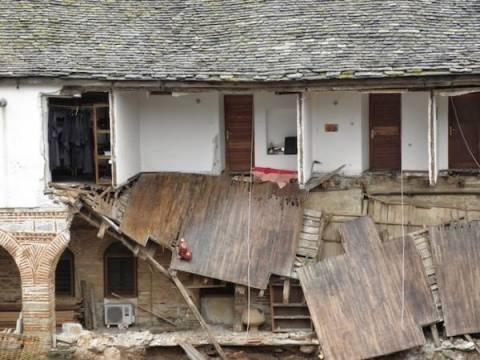 Άγιο Όρος: Μεγάλες καταστροφές στη Μονή Μεγίστης Λαύρας από τη βροχή