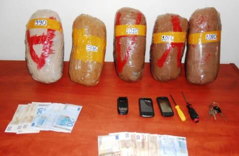 Θεσσαλονίκη: Συνελήφθησαν δύο αλλοδαποί με 5 κιλά κάνναβης