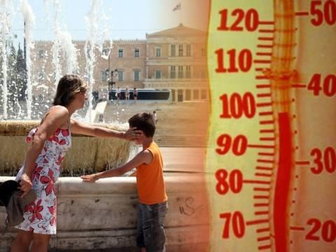Καιρός: «Κύμα» καύσωνα σαρώνει τη χώρα-Στους 41 βαθμούς η θερμοκρασία