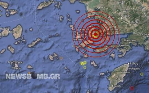 Σεισμός 4,1 Ρίχτερ στην Αλικαρνασσό – Αισθητός στην Κω