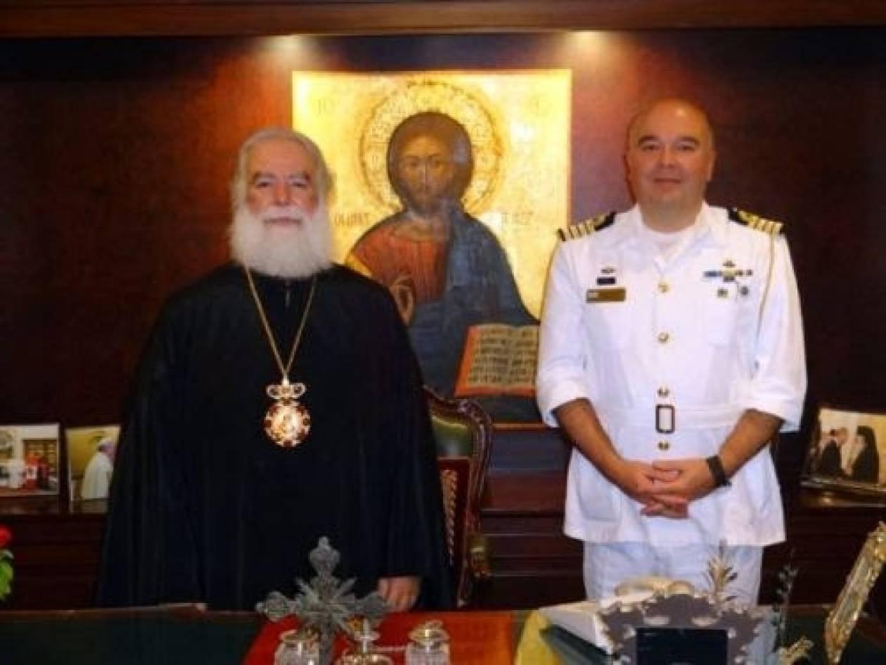 O νέος Ακόλουθος Άμυνας στο Κάιρο στον Πατριάρχη Αλεξανδρείας