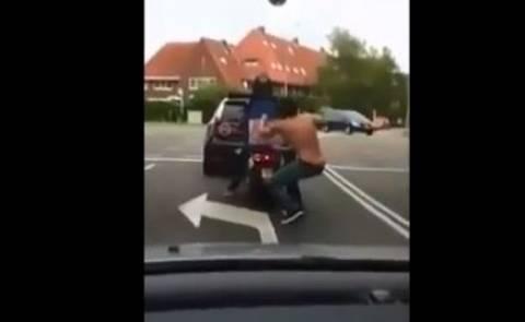 Επιδέξιος ληστής κλέβει πίτσα από ντελιβερά (vid)
