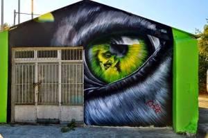 Εύβοια: Γκράφιτι έδωσαν «ζωή» σε εγκαταλελειμμένη αποθήκη (pics)