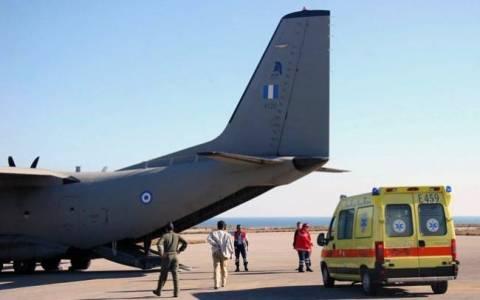 Αεροδιακομιδή 7 ασθενών σε νοσοκομεία της Αθήνας από νησιά του Αιγαίου