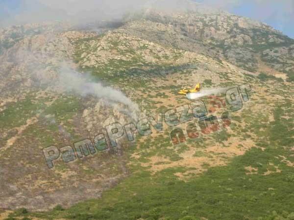 Πρέβεζα: Υπό έλεγχο η φωτιά στα Μουζακαίικα – Έκαψε 180 στρέμματα