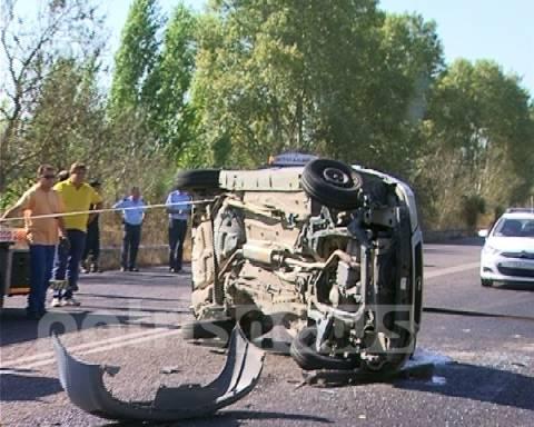 Γαστούνη: Τροχαίο ατύχημα με δύο τραυματίες