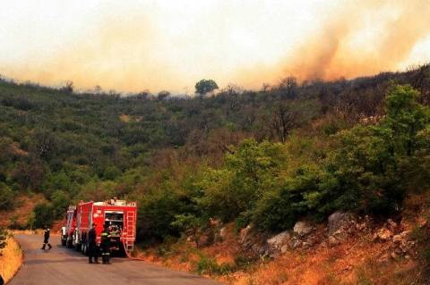 Κρήτη: Σε εξέλιξη πυρκαγιά στο Λίσταρο