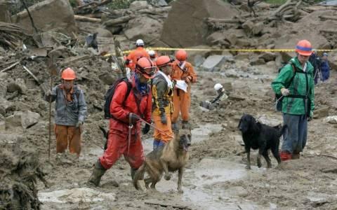Ιαπωνία: Αυξήθηκε ο αριθμός των θυμάτων από τις κατολισθήσεις