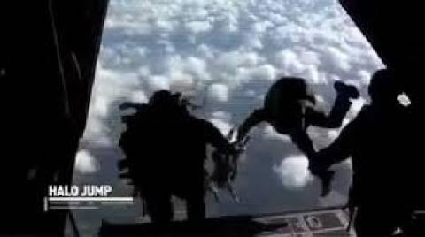 Το άλμα του στρατιώτη με το αλεξίπτωτο πήγε στραβά! (βίντεο)