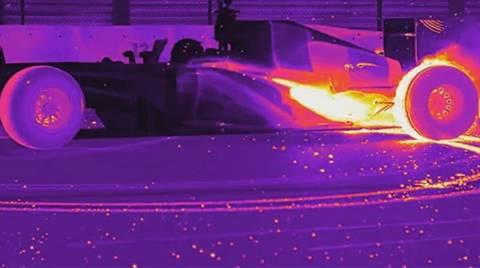 Formula 1 με θερμική κάμερα (video)