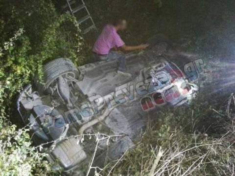 Πρέβεζα: Αυτοκίνητο έπεσε μέσα σε αρδευτικό κανάλι