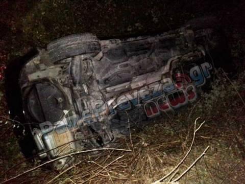 Πρέβεζα: Ανατροπή οχήματος σε αρδευτικό κανάλι - Σώος ο οδηγός