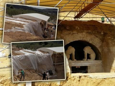 Αμφίπολη: Θωρακίζουν τον τάφο οι αρχαιολόγοι