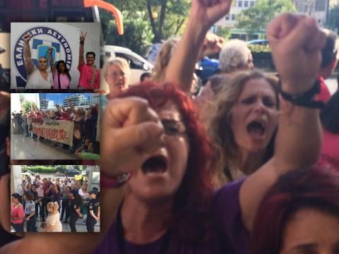 Καθαρίστριες ΥΠΟΙΚ: Συγκινητικές στιγμές έξω από την ΓΑΔΑ