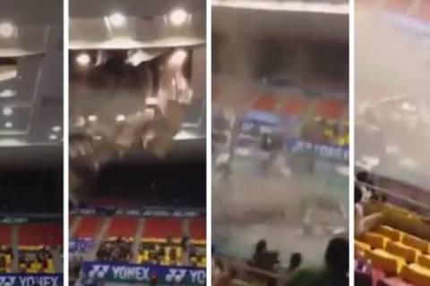 Βιετνάμ: Κατέρρευσε οροφή γηπέδου εν ώρα αγώνα! (video)