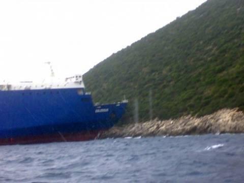Αστυπάλαια: Προσάραξε φορτηγό πλοίο-Σημειώθηκε μικρή εισροή υδάτων
