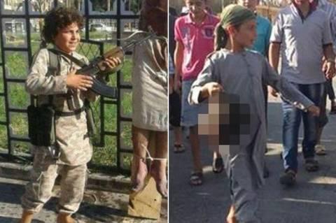Φρίκη: Παιδιά κρατάνε κομμένα κεφάλια και κάνουν παρέλαση  (pics)
