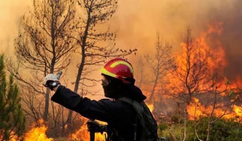 Ρόδος: Φωτιά στον Άνω Καλαμώνα