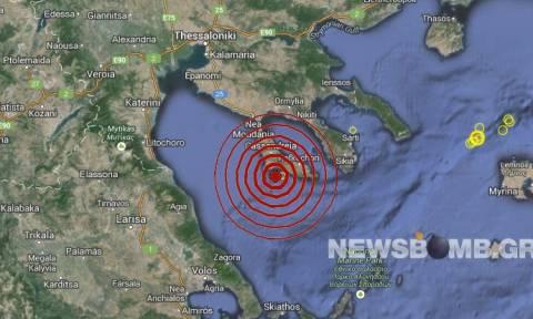 Σεισμός 3,0 Ρίχτερ νότια του Πολυγύρου