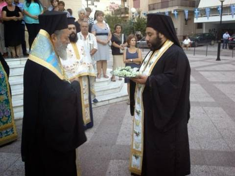Υποδοχή ιερού Λειψάνου Αγίου Κυπριανού στη Χαλκίδα