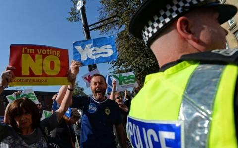 Σκωτία: Πηγή ανησυχίας νίκη του «ναι» στο δημοψήφισμα ανεξαρτησίας