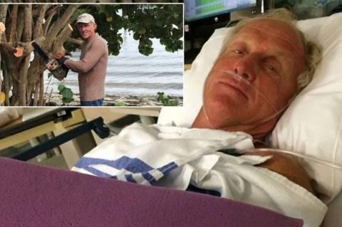 Γνωστός πρωταθλητής του γκολφ παραλίγο να χάσει το χέρι του από αλυσοπρίονο