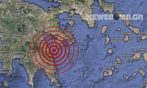 Σεισμός 4,2 Ρίχτερ ανατολικά του Λεωνιδίου