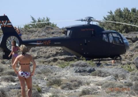 Κρήτη: Δεν το έχετε ξαναδεί- Έκαναν μπάνιο με ένα ελικόπτερο από πάνω τους (pics)