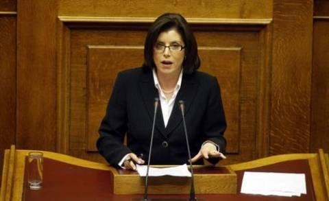 Ασημακοπούλου: «Δείγμα ηττοπάθειας η ακυβερνησία που επιδιώκει ο ΣΥΡΙΖΑ»