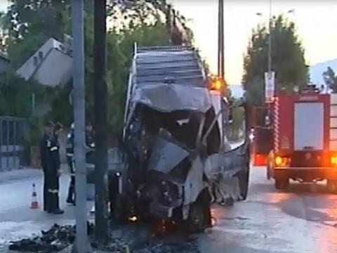Κάηκε ζωντανός μέσα στο αυτοκίνητο στην Πέτρου Ράλλη