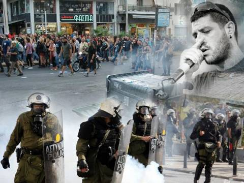 Παύλος Φύσσας: Επεισόδια και ζημιές στην πορεία για τον Παύλο Φύσσα (pics&vid)