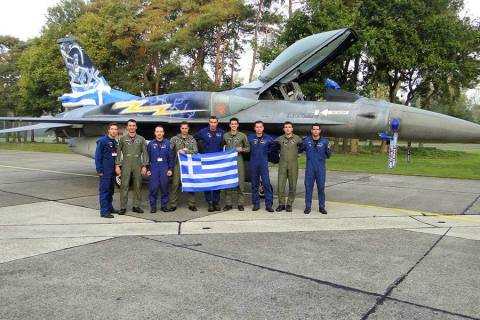 Belgian Air Force Days: Συμμετείχε και η ομάδα F-16 Ζευς