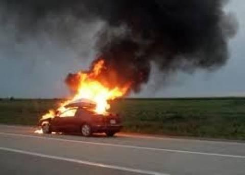 Κρήτη: Ρώσοι τουρίστες άφησαν φλεγόμενο Ι.Χ. στο δρόμο και εξαφανίστηκαν
