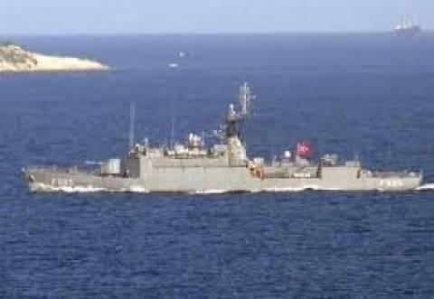 Τουρκική κορβέτα στο τεμάχιο 9 της Κύπρου