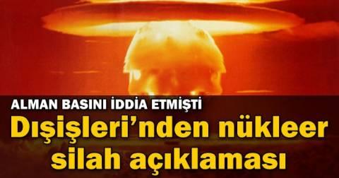 ΥΠΕΞ Τουρκίας: Διάψευση περί πυρηνικών όπλων