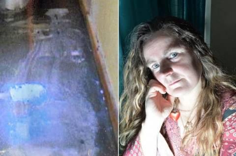 Δακρυσμένος Ιησούς εμφανίστηκε στο πάτωμα του σπιτιού Βρετανίδας! (pics)