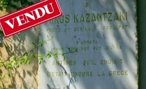 Vendu: Πωλείται το σπίτι του Καζαντζάκη στην Αντίμπ!