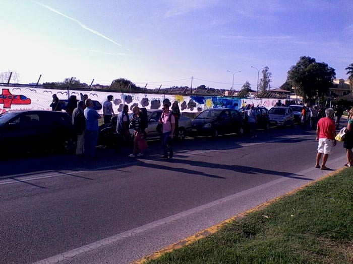 Κέρκυρα: Το μεγαλύτερο πανό κατά της πώλησης του αεροδρομίου (pics)