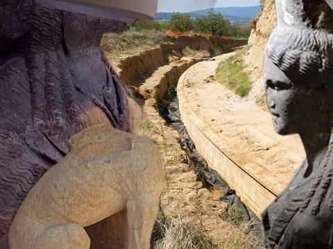 Αμφίπολη: Βρέθηκε δίφυλλη μαρμάρινη πόρτα στον τρίτο θάλαμο